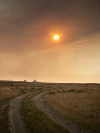pawnee grassland: Dramatic sunset at Pawnee National Grassland in Weld County, of northeastern Colorado.
