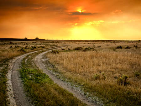 fort collins: Dramatic sunset at Pawnee National Grassland in Weld County, of northeastern Colorado.