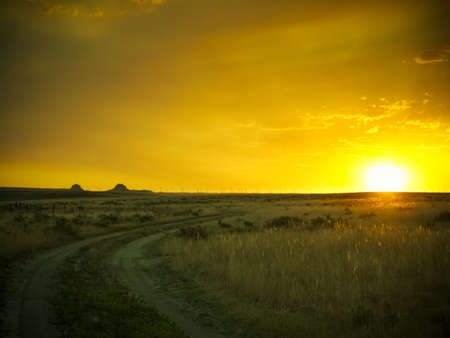 pawnee grassland: Dramatic sunset at Pawnee National Grassland in Weld County, of northeastern Colorado.