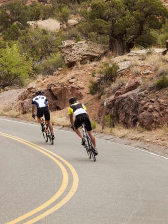 Biking in Colorado National Monument, Colorado.