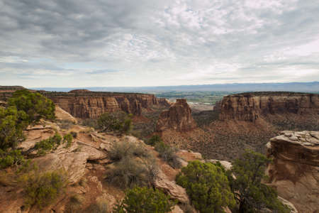 Colorado National Monument is a part of the National Park Service near the city of Grand Junction, Colorado.  photo