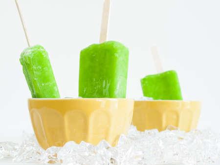 Frozen pop on a stick. photo