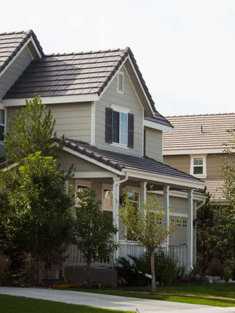 suburban neighborhood: House in suburban development of Denver, Colorado.