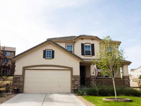 Maison dans le développement de la banlieue de Denver, au Colorado.