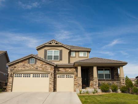 House in suburban development of Denver, Colorado.