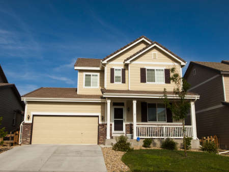 suburbs: House in suburban development of Denver, Colorado.