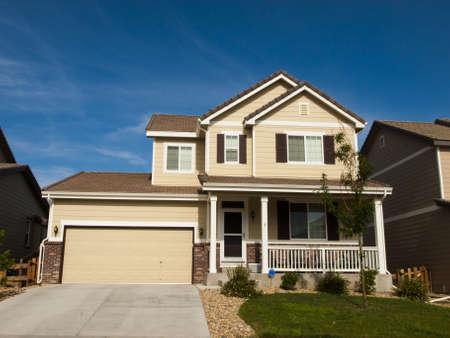 suburban: House in suburban development of Denver, Colorado.