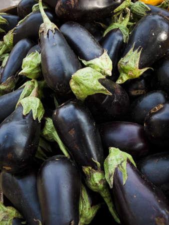 brinjal: Eggplant at the local farmers market.