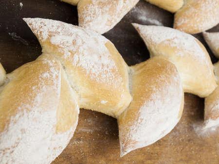 breakaway: Freshly baked bread at the local farmers market. Stock Photo