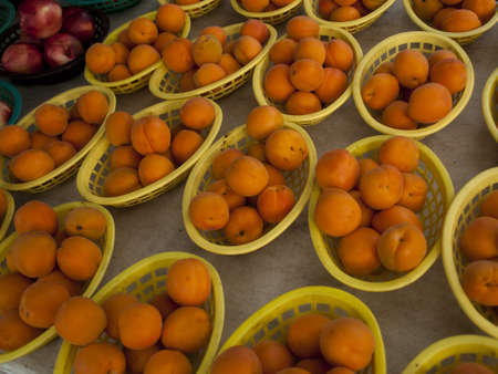 Fresh apricots at the local farmer's market. Stock Photo - 14807366