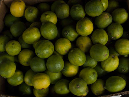 Fresh limes at the local farmer's market. photo