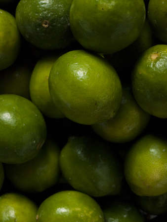 Fresh limes at the local farmers market. photo