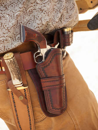 2012 annual match of Colorado Shaketails Cowboy Action Shooting SASS Club.  The firearms used are based on those which existed in the 19th century American West, i.e. lever action rifle, single action revolver, and shotgun.