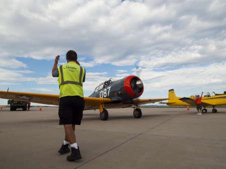 warbirds: 2012 APW Fly-in Warbirds at Centennial Airport, Centennial, Colorado. Editorial