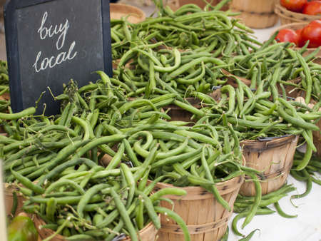 vegetare: Green beans peppers at the local farmers market.