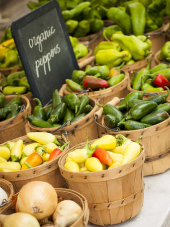 organic plants: Fresh organic food at the local farmers market. Farmers markets are a traditional way of selling agricultural products.