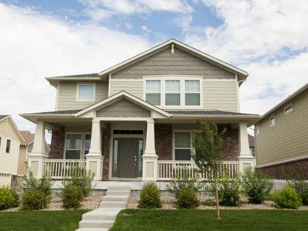 House in suburban development of Denver, Colorado.