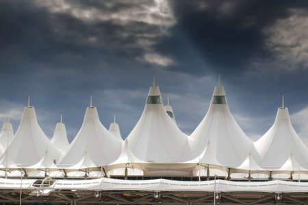 Captivating Denver International Airport Well Known For Peaked Roof. Design.. Stock  Photo, Picture And Royalty Free Image. Image 15131703.