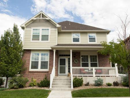dwellings: House in suburban development of Denver, Colorado.