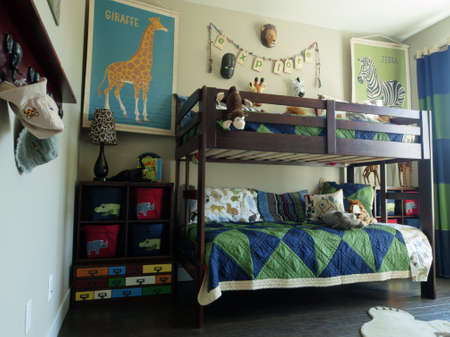 boy room: Residential interior of modern house.