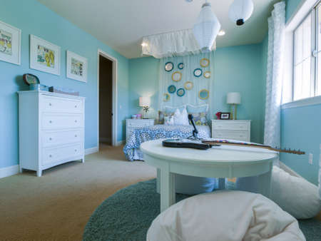 kids bedroom: Residential interior of modern house.