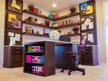 study room: Residential interior of modern house.