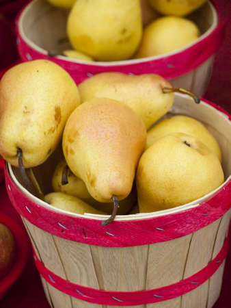 Fresh pears at the local farmers market. Farmers markets are a traditional way of selling agricultural products. photo