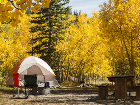 The last camping trip of the season on Boreas Pass, Colorado.