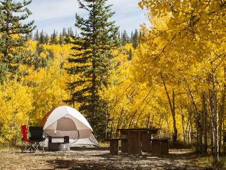 campsite: The last camping trip of the season on Boreas Pass, Colorado.