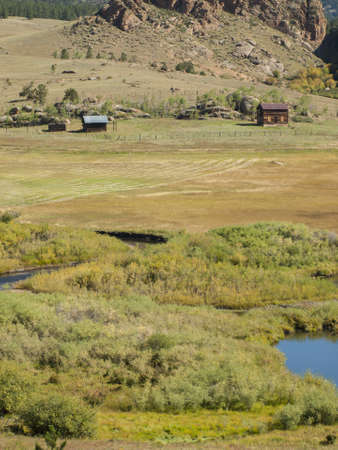 Ranch with flyfishing stream in Colorado.