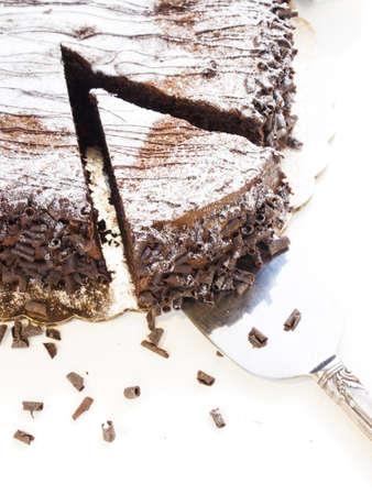 Flourless Chocolate Cake with Star of David for Hanukkah. Stock Photo - 15944029