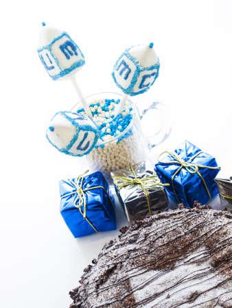 Flourless Chocolate Cake with Star of David for Hanukkah. Stock Photo - 15944025