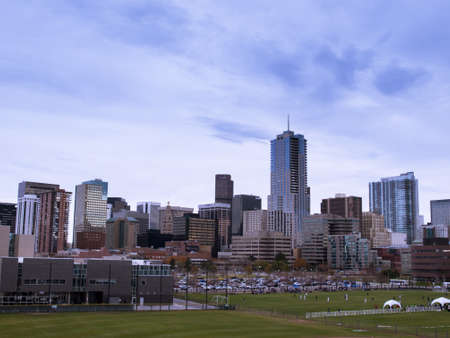 Downtown Denver from the Auraria Campus in late Autumn.