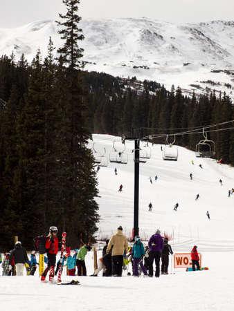 eisenhower: Beginning of 2012 ski season at Loveland Ski Area, Colorado.
