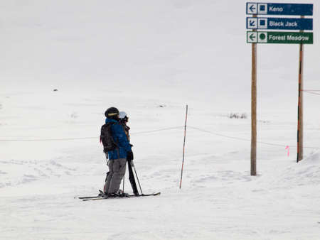 Beginning of 2012 ski season at Loveland Ski Area, Colorado.