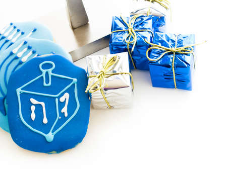 Gourmet cookies decorated for Hanukkah. Stock Photo - 16634772