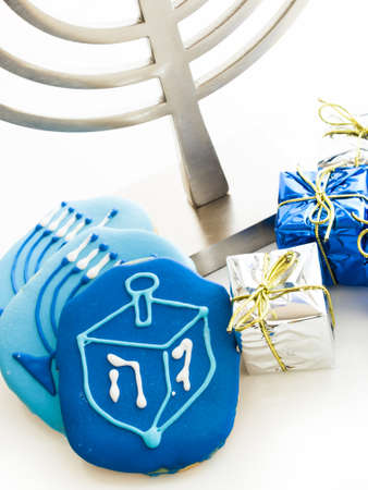 Gourmet cookies decorated for Hanukkah. Stock Photo - 16630803