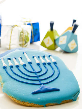 Gourmet cookies decorated for Hanukkah. Stock Photo - 16630808