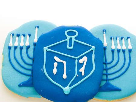 Gourmet cookies decorated for Hanukkah. Stock Photo - 16634912