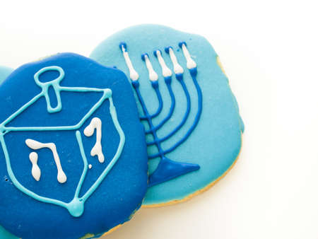 Gourmet cookies decorated for Hanukkah. Stock Photo - 16630819