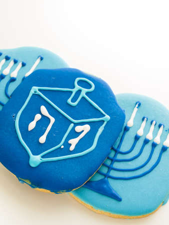 Gourmet cookies decorated for Hanukkah. Stock Photo - 16630805