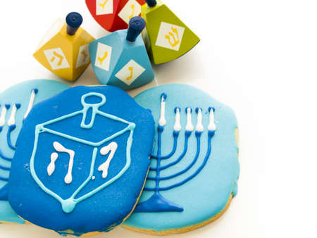 Gourmet cookies decorated for Hanukkah. Stock Photo - 16630804