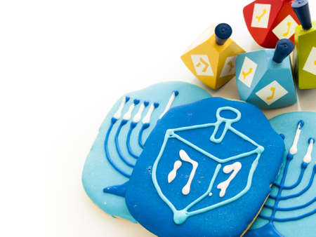 jewish: Gourmet cookies decorated for Hanukkah.