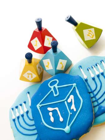 Gourmet cookies decorated for Hanukkah. Stock Photo - 16634766