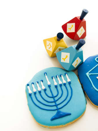 Gourmet cookies decorated for Hanukkah. Stock Photo - 16634614