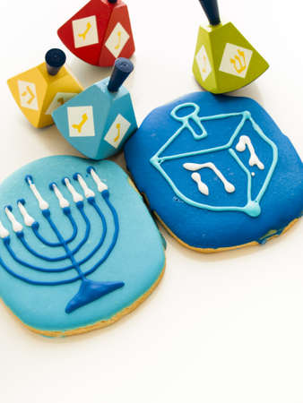 Gourmet cookies decorated for Hanukkah. Stock Photo - 16634771