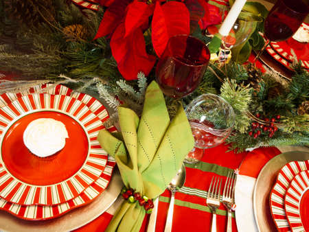 A table set for a holiday meal. photo