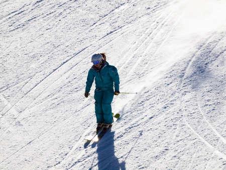 People enjoying 2012 ski seson in Loveland Basin, Colorado.