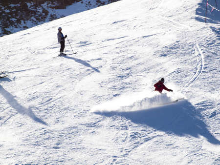 People enjoying 2012 ski seson in Loveland Basin, Colorado.