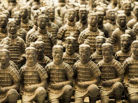 The Terracotta Army in Xian, China. Redakční